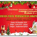 Perayaan Natal Persekutuan Oikumene RSKD Provinsi Maluku - 6 Desember 2018